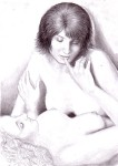 Me and her, pencil drawing