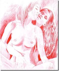 Doua femei facand dragoste - Two women making love