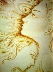 Prietenie adevarata si calda picttura facuta cu cafea - Dinamica petelor de cafea - Close friends coffee painting
