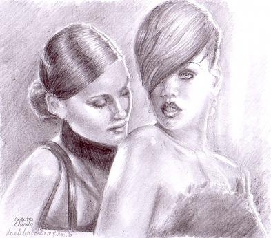 Rihanna si Laetitia Casta