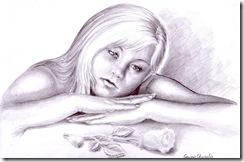 Melancolie desen in creion