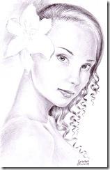 Portret de fata cu crin