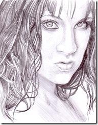 Portret de femeie desen in creion
