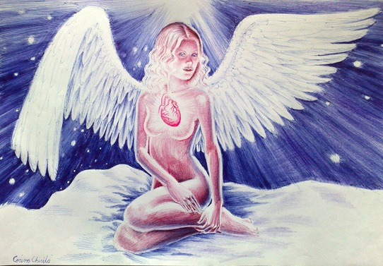Shining heart angel