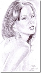 Tiffany Fallon pencil drawing portrait