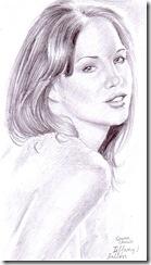 Tiffany Fallon pencil drawing portrait