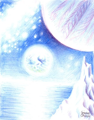 Earthrise drawing