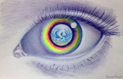 Image result for earth and rainbows