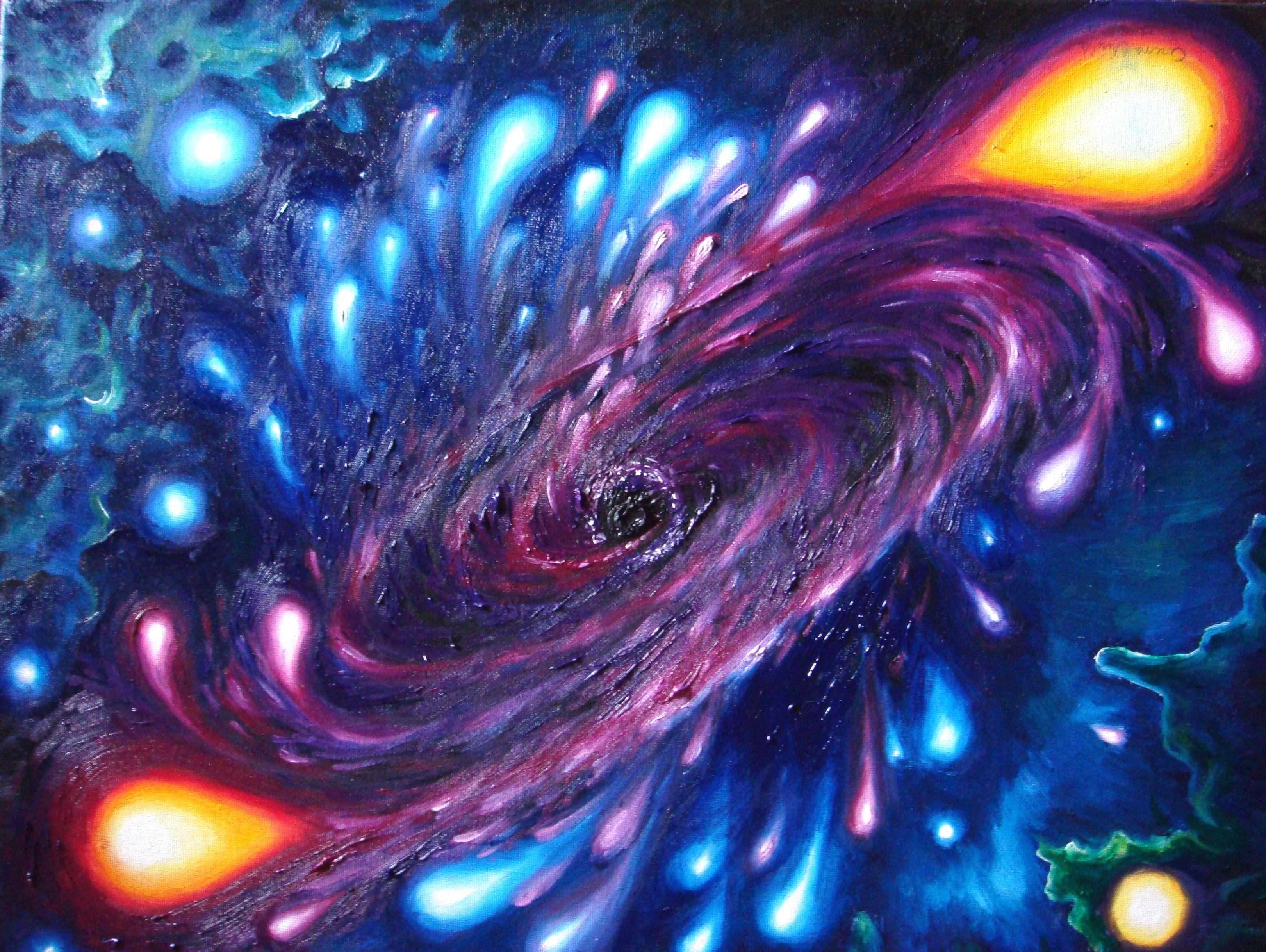 Oil Canvas Art Gaura Neagra Pictura Ulei Pe Panza Black Hole