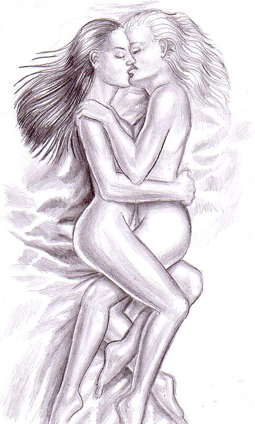 Got lesbian drawing gallery amor amoooooo