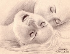 Whispers of love, pencil drawing