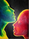 Love and desire, oil on canvas painting