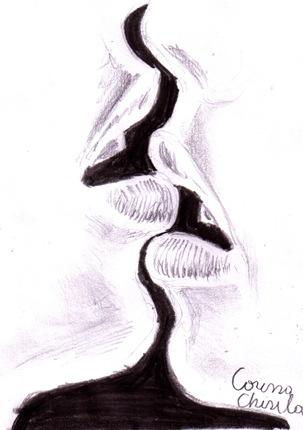 Sarut desen in creion - kiss penmcil drawing