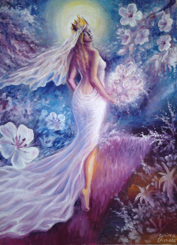 The bride of my soul, oil on canvas painting