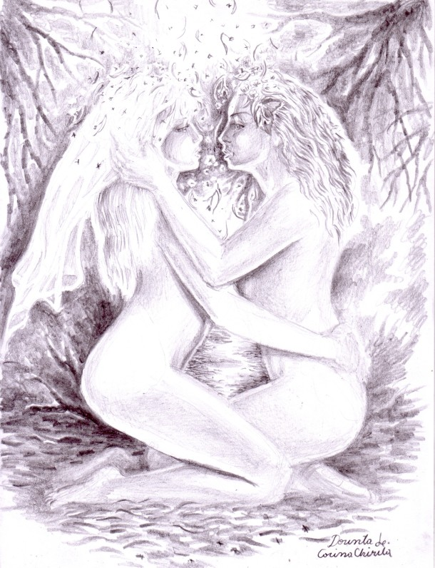 Desire, pencil drawing