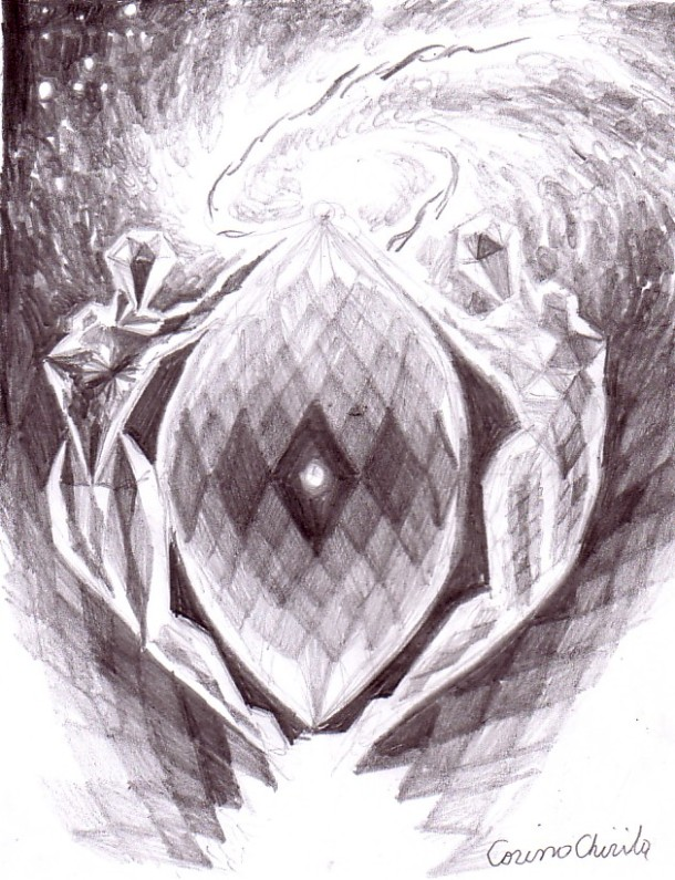 Diamonds in the sky, pencil drawing