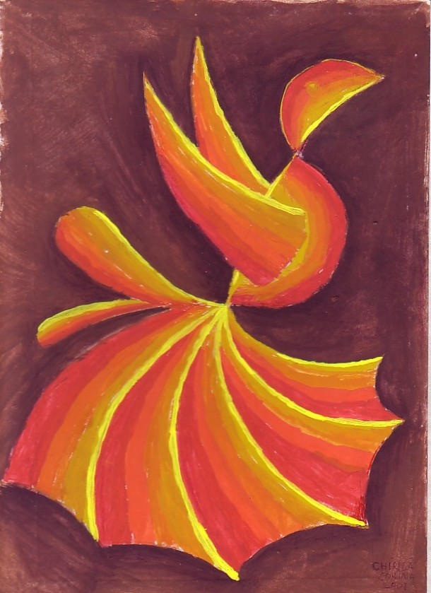 The fire bird, a painting I've made by the year 2001 when I was 14