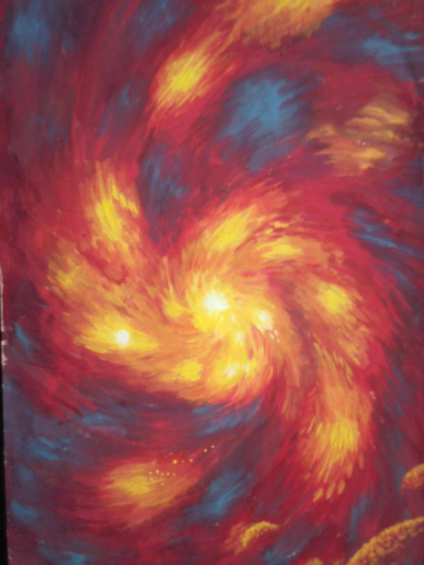 The fire spyral, a painting I've made by the year 2004