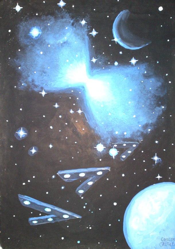 Boomerang nebula, painting