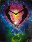 Euphoria oil on glass painting - Euforia pictura pe sticla
