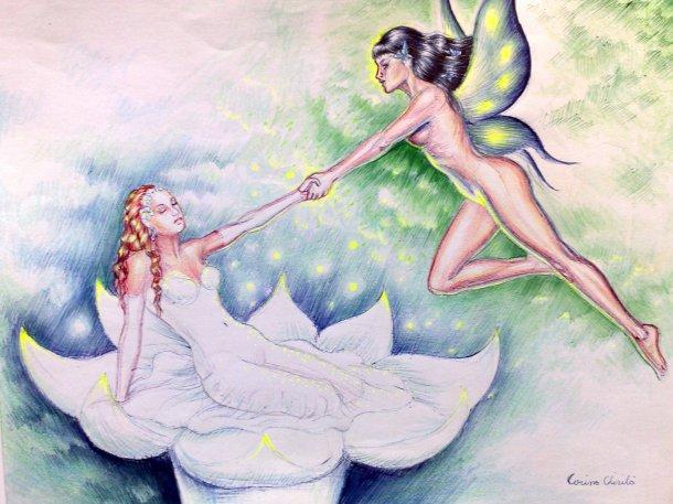 Spring fantasy drawing