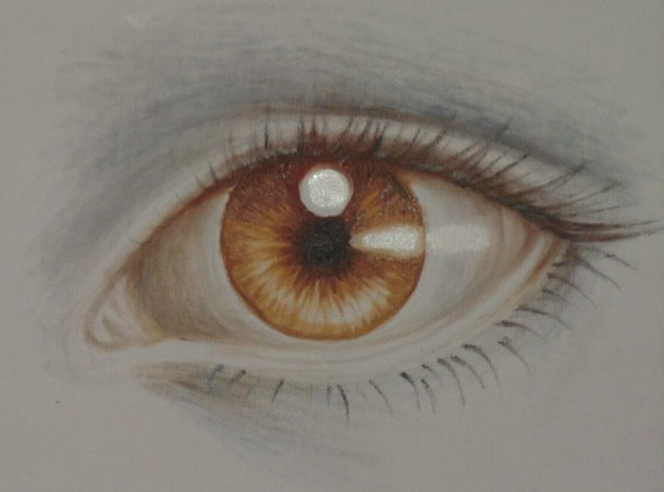 Brown eye, oil on canvas painting