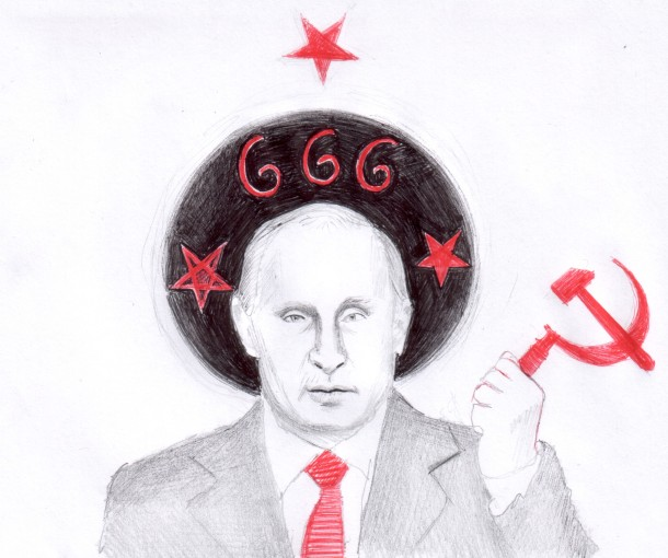 The antichrist from Russia, drawing