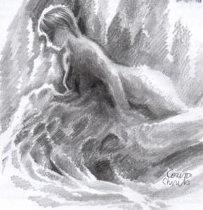 Distorted erotic dreams, pencil drawing