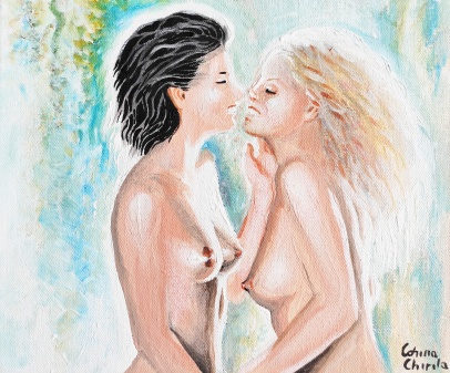 me and my love lesbian erotica painting